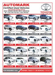 Motor center-certified used veichles-gaborone-valid till while stock lasts