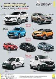 KIA MOTORS-MEET THE FAMILY COMING TO YOU SOON-VALID TILL WHILE STOCK LASTS
