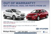 MOLAPO MOTORS-GET A SPECIALS DEAL OF PARTS FROM US-GABORONE-VALID TILL WHILESTOCK LASTS