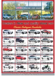 PRISTINE CAR SALES-DEALERS IN NEW & QUALITY USED CARS-GABORONE-VALID TILL WHILE STOCK LASTS