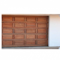 Meranti 20 panel single garage door at Haskins