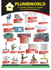 PLUMBWORLD-GABORONE-VALID TILL WHILE STOCK LASTS