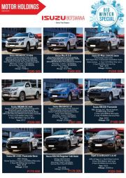 MOTOR HOLDINGS-BIG WINTER SPECIALS-GABORONE-VALID TILL WHILE STOCK LASTS