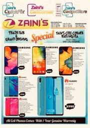 ZAINI CELL CONER-TRADE FAIR & GRAND OPENING SPECIALS-VALID TILL WHILE STOCK LASTS