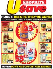 SHOPRITE USAVE - HURRY! BEFORE THE`RE GONE!