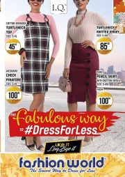 FASHION WORLD-THE FABULOUS WAY TO DRESS FOR LESS-GABORONE-VALID TILL MONTH END
