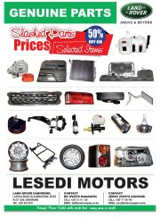 LAND ROVER-GENUINE PARTS-GABORONE-VALID TILL WHILE STOCK LASTS