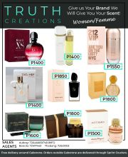 TRUTH CREATIONS GIVE US YOUR BRAND WE GIVE YOU YOUR SCENT-GABORONE VALID WHILE STOCK LAST