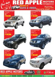 RED APPLE MOTORS-SPECIALS ON SUVS & 4WDS PRICES NOT TO BE MISSED-MOGODITSHANE-VALID TILL WHILE STOCK LAST