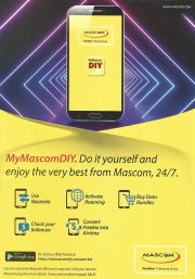 MASCOM-NUMBER ONE BECAUSE OF YOU-VALID TILL WHILE STOCK LASTS