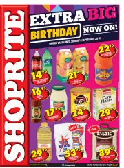 SHOPRITE - EXTRA BIG BIRTHDAY NOW ON!