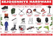 SEJOSENYE HARDWARE-CHRISTMAS & NEW YEAR SPECIALS-VALID TILL WHILE STOCK LASTS