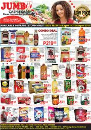 JUMBO CASH & CARRY-GREAT SAVINGS TO MAKE YOU SMILE-FRANCISTOWN-VALID TILL 31 AUGUST 2019