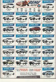 XTREME AUTO-WE HAVE A WIDE RANGE OF VEHICLES TO CHOOSE FROM-GABORONE-VALID TILL WHILE STOCK LASTS