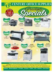 CENTURY OFFICE SUPPLIES-PRESIDENT SPECIALS-COUNTRY WIDE-VALID TILL 31 AUGUST 2019